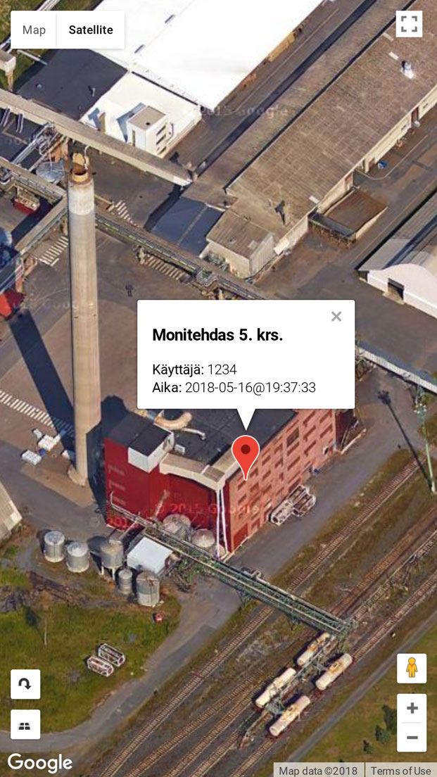 worker location on Iphone